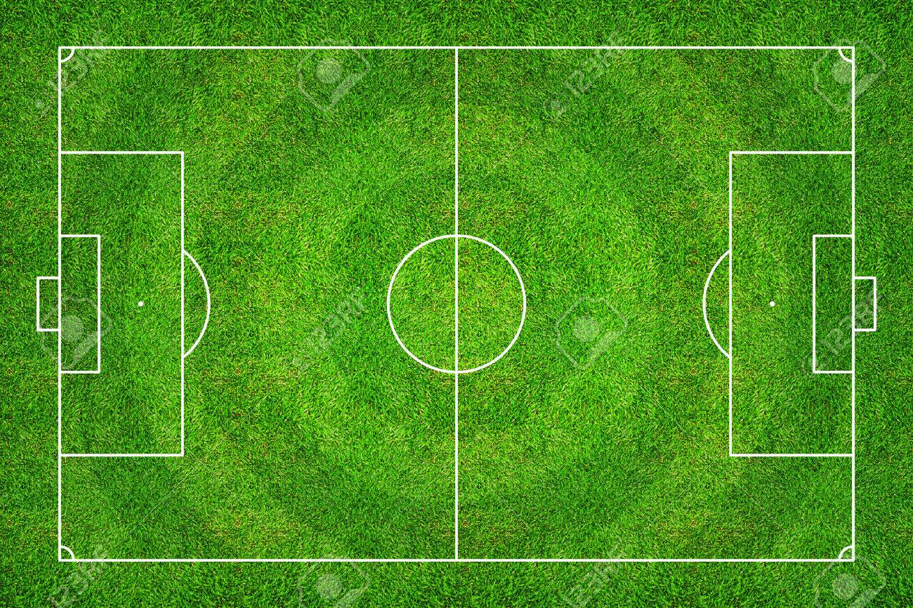 Football Field Or Soccer Field Pattern And Texture Abstract