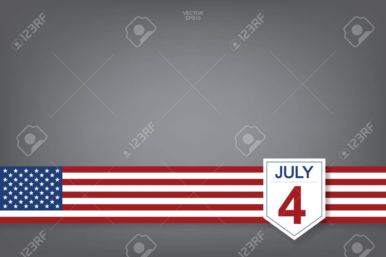 4th of July - Abstract background sign and symbol for USA(United States of America) Independence Day. Vector illustration. - 103775500