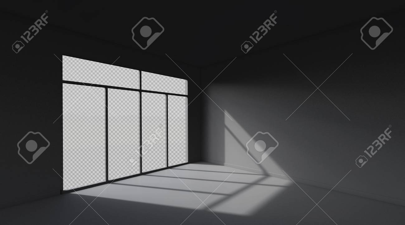 Dark room space background  3D Rendering