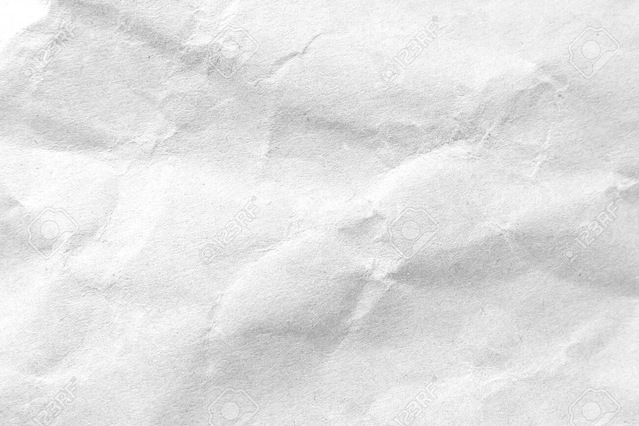 White crumpled paper texture background. Close-up image. - 120084703