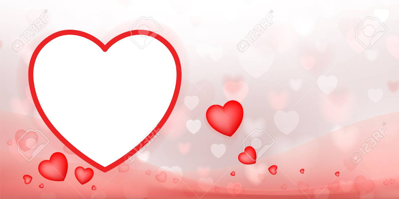 Abstract Red Heart Background For Valentines Day And Wedding