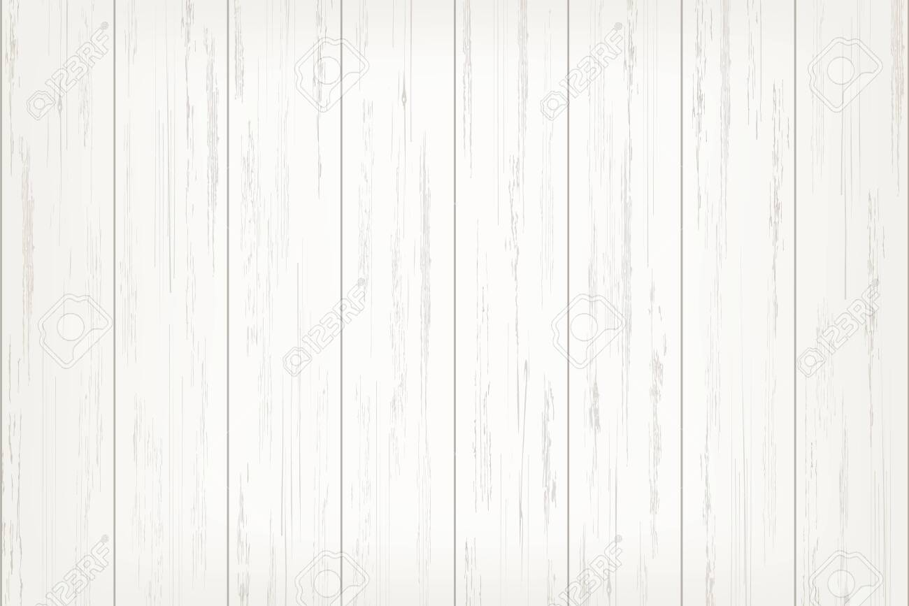 White wood plank texture for background. Vector illustration. - 124292885