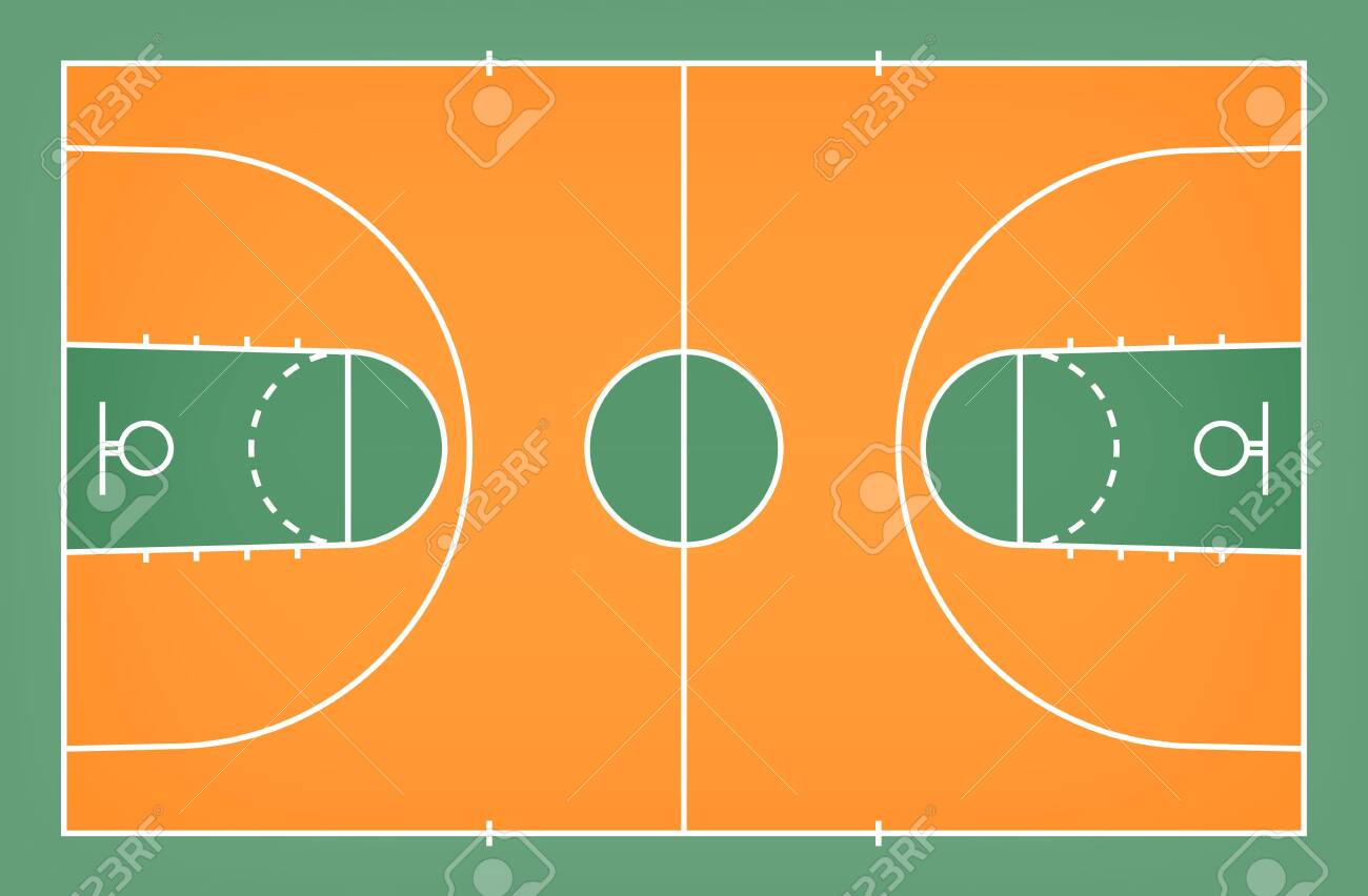 Green Basketball Court Floor With Line Pattern Background Basketball Royalty Free Cliparts Vectors And Stock Illustration Image 124292913