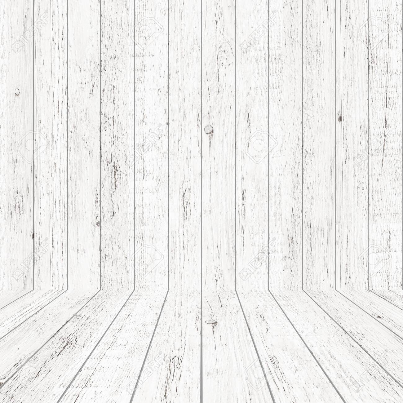 Vintage wood pattern texture in perspective view for background. Empty wooden room space background. - 121650884