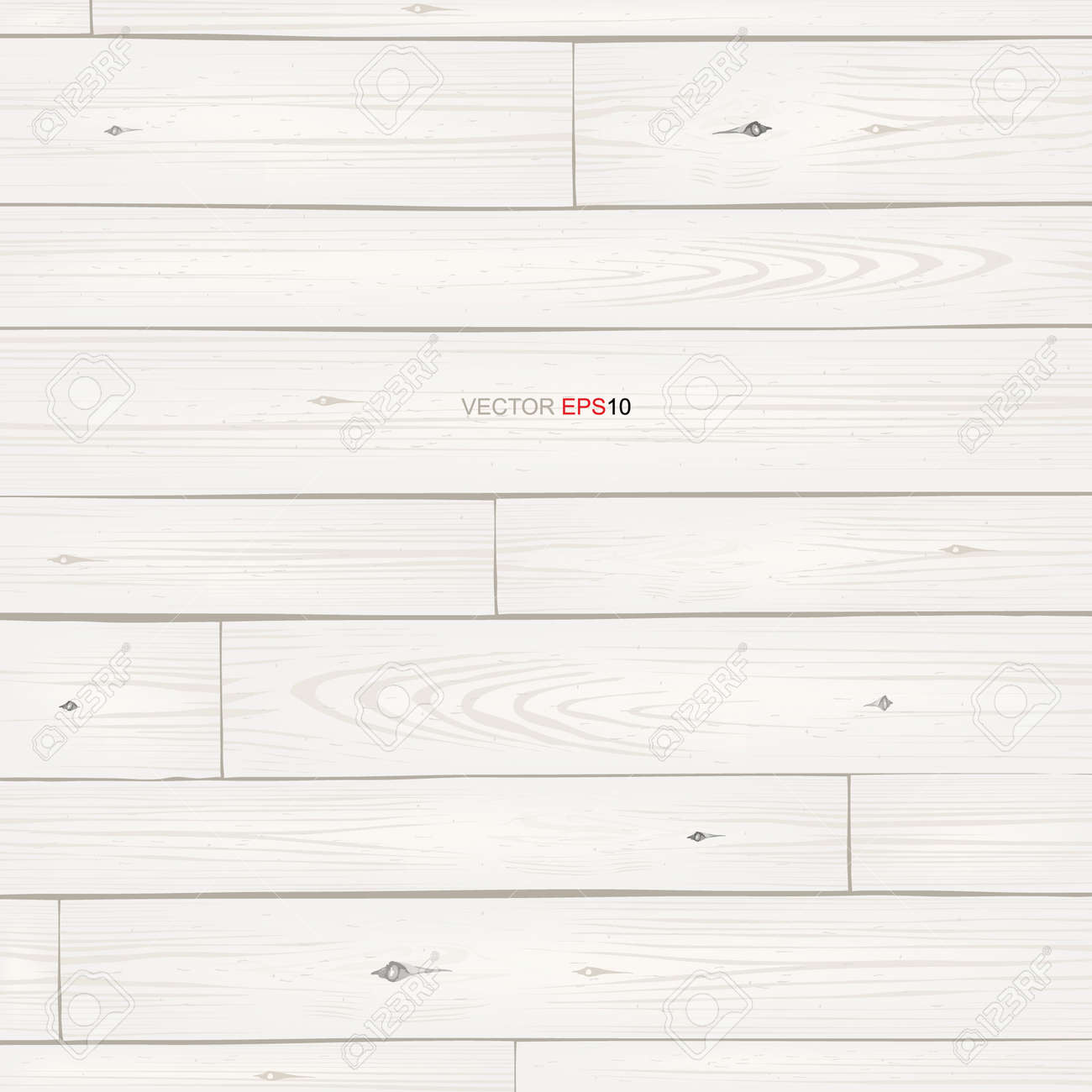 White wood pattern and texture for background. Vector illustration. - 155869601