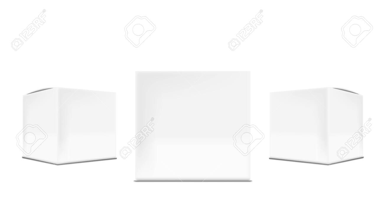 3D White Cardboard Packaging Box For Branding - 147989519