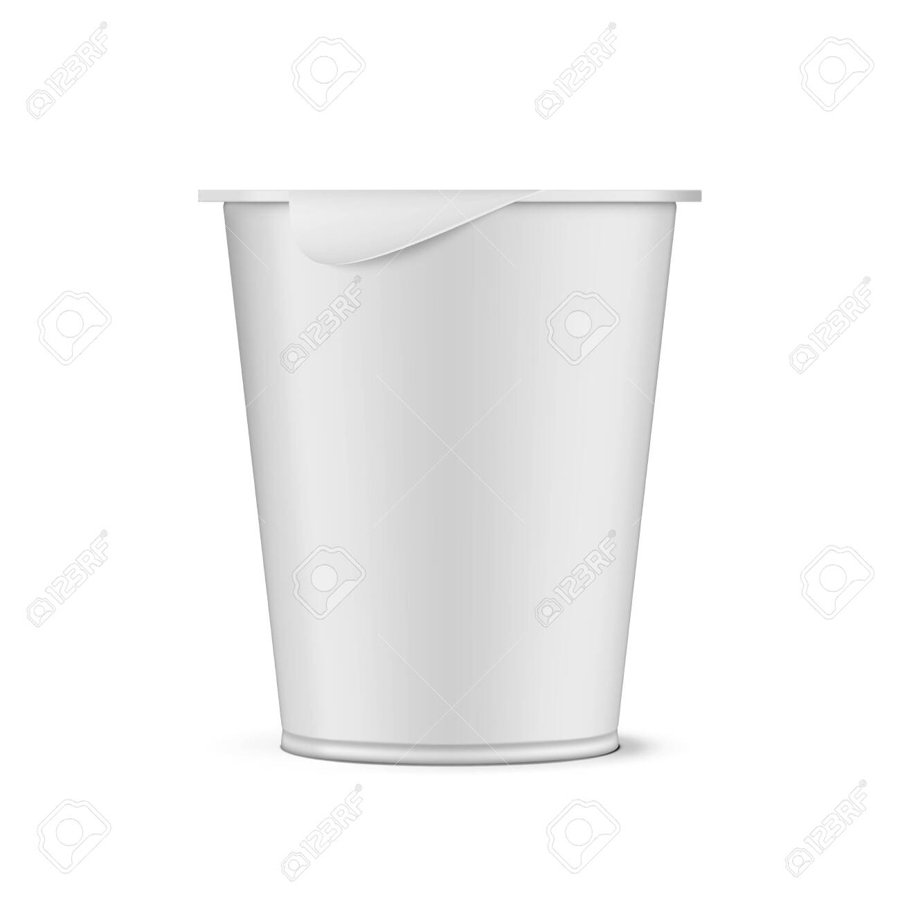 Round White Plastic Pot With Foil Cover Cup - 148144626