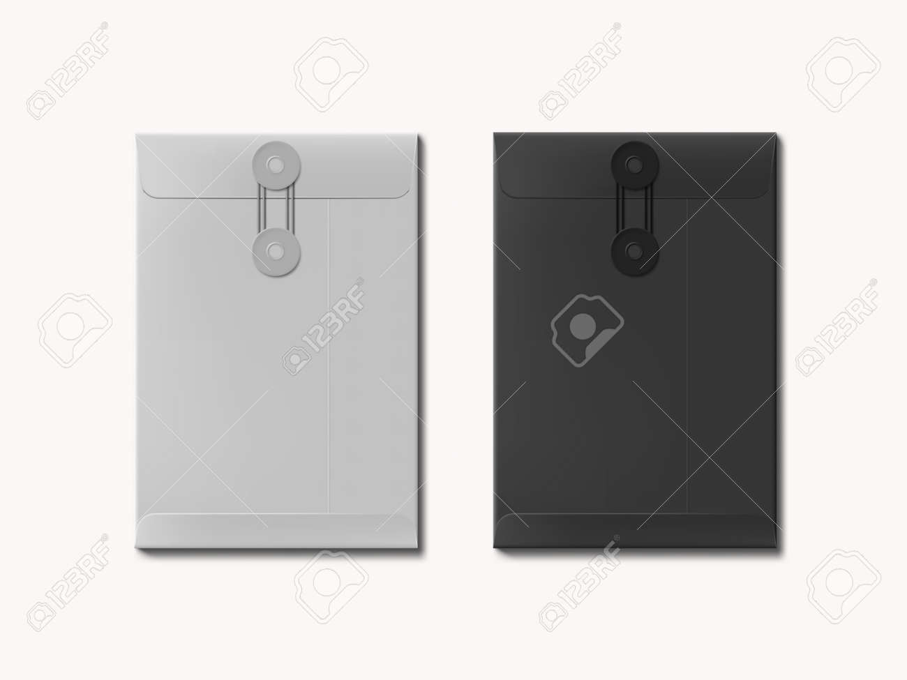 Black And White Paper A4 Or C4 Size Envelope - 169410478