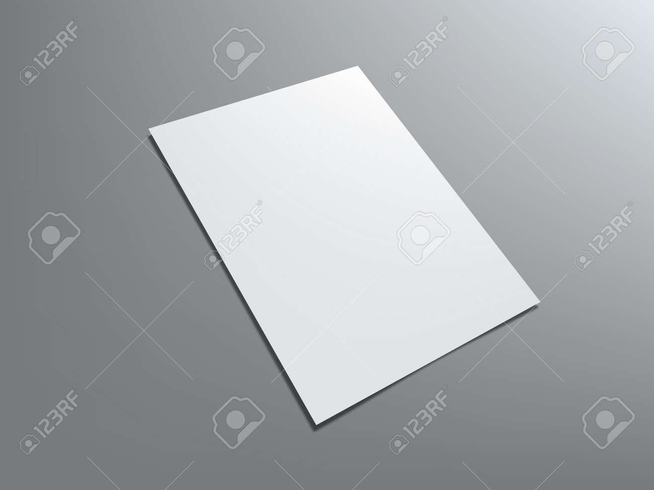 Blank Portrait A4 White Paper Isolated On Gray - 169410678
