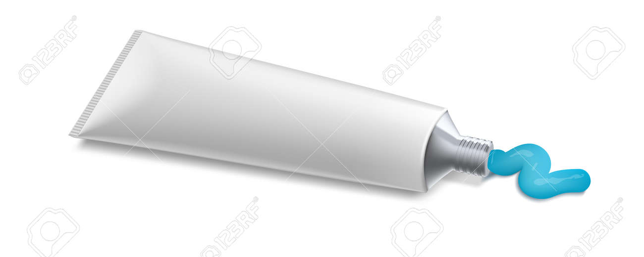 Clear Toothpaste White Plastic And Silver Tube - 169411535