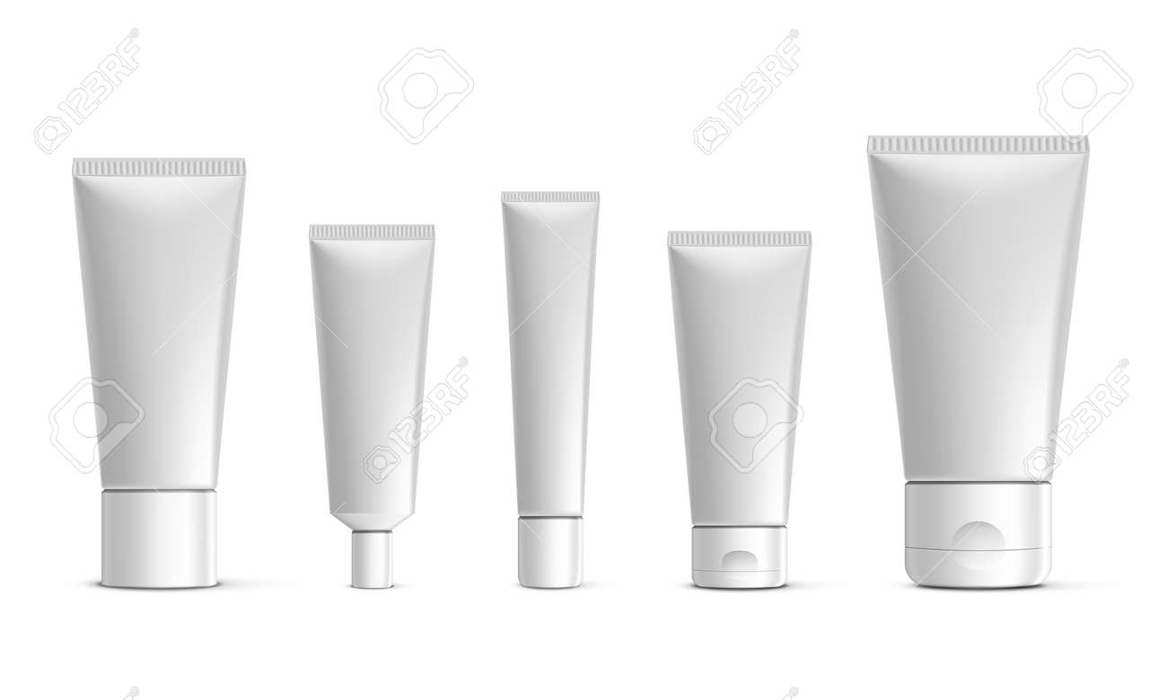 Blank Plastic Tube For Cosmetics With Cap - 169411549