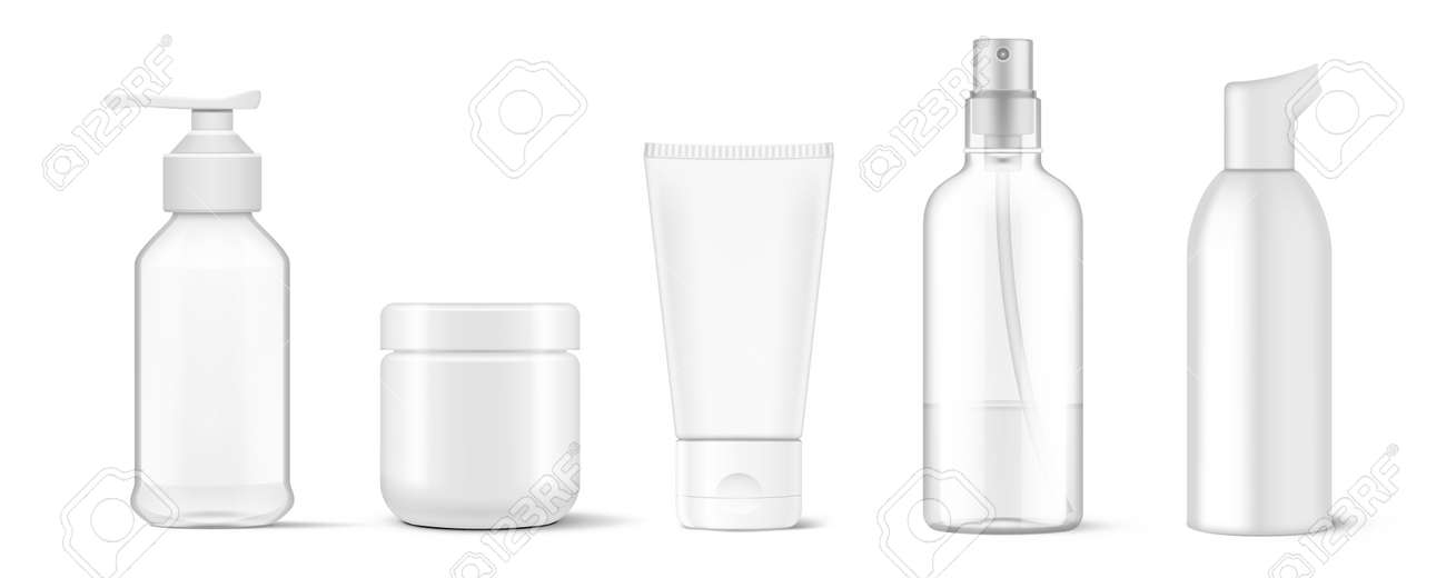 Cosmetic Packaging. Tube, Spray And Mousse Bottle - 169413589