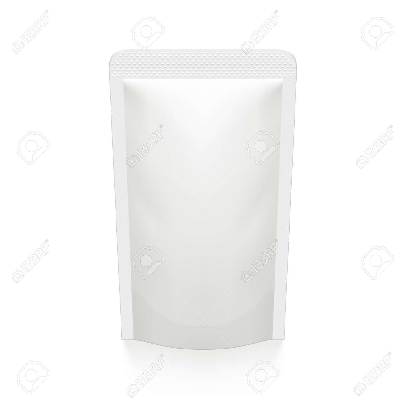 3D White Pouch Foil Plastic Vacuum Packaging - 169413625