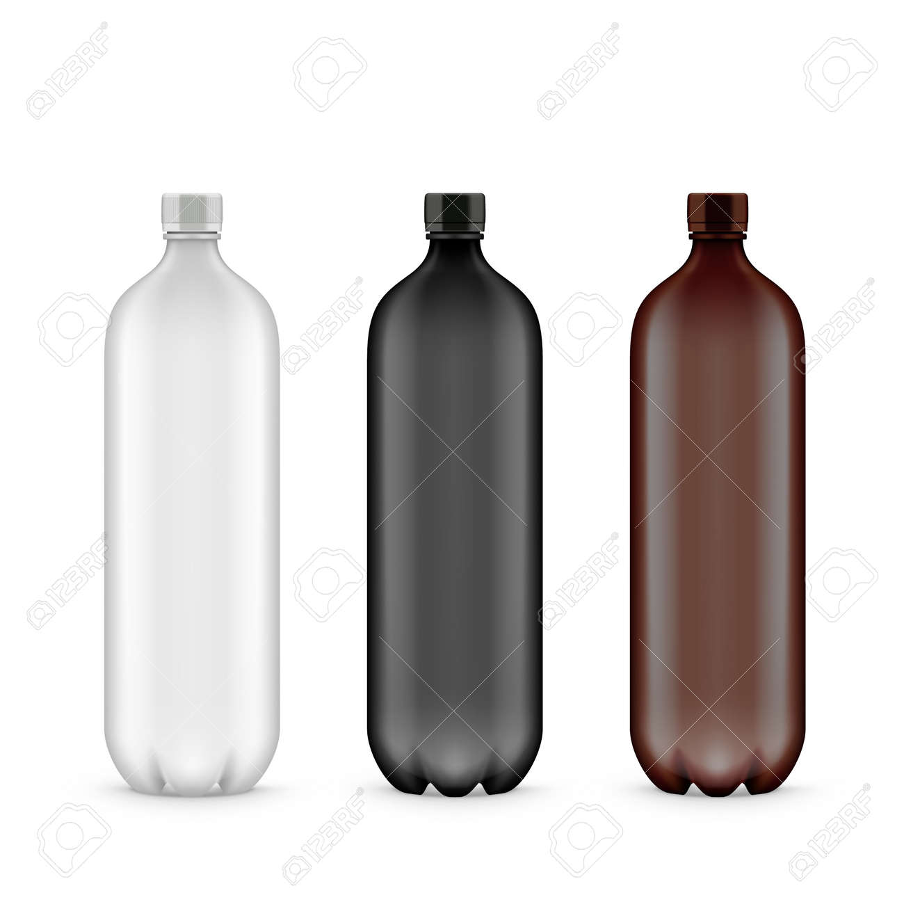 White, Black And Brown Plastic PET Bottle - 169413630