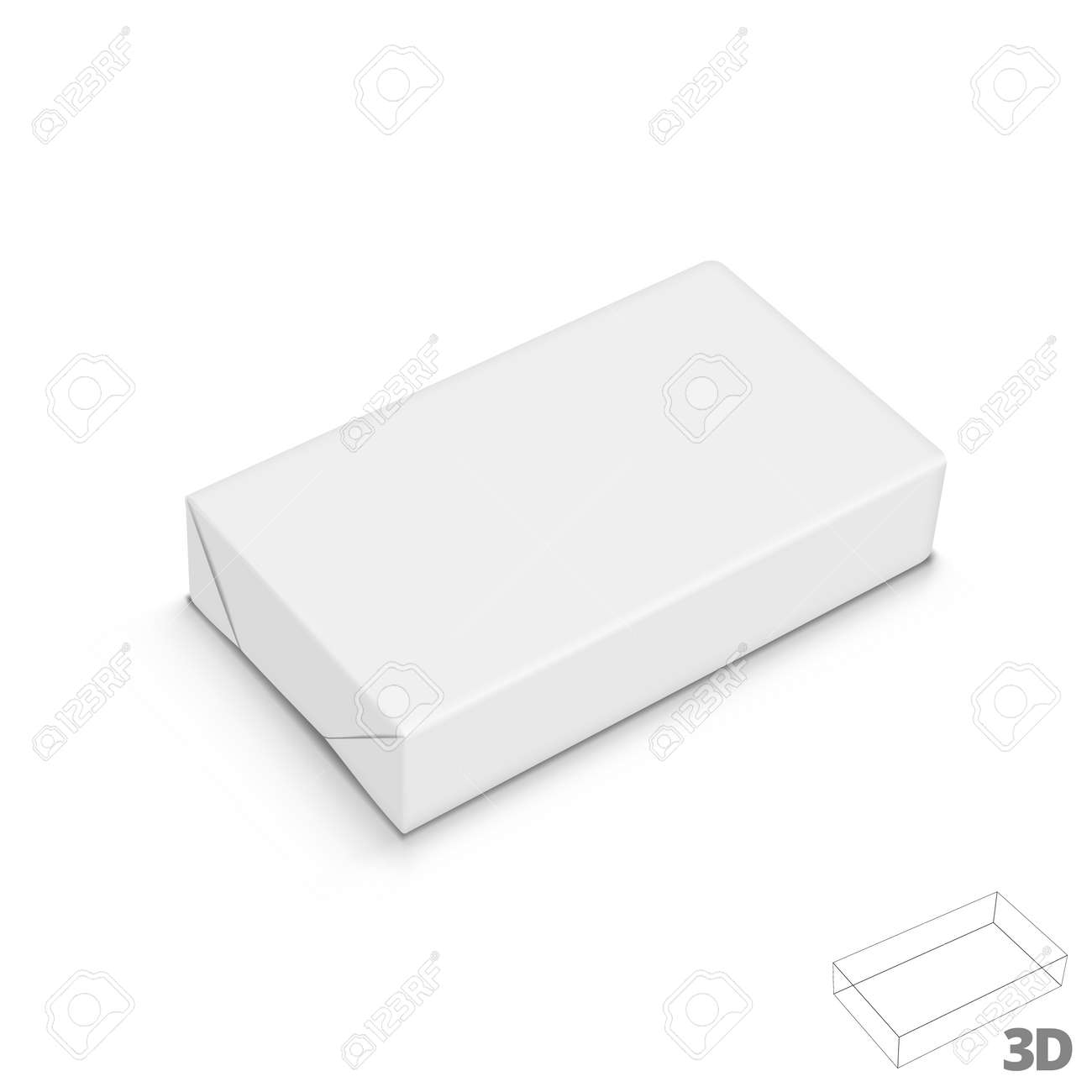 Spread Butter Paper Wrap Box Package On White - 169413632