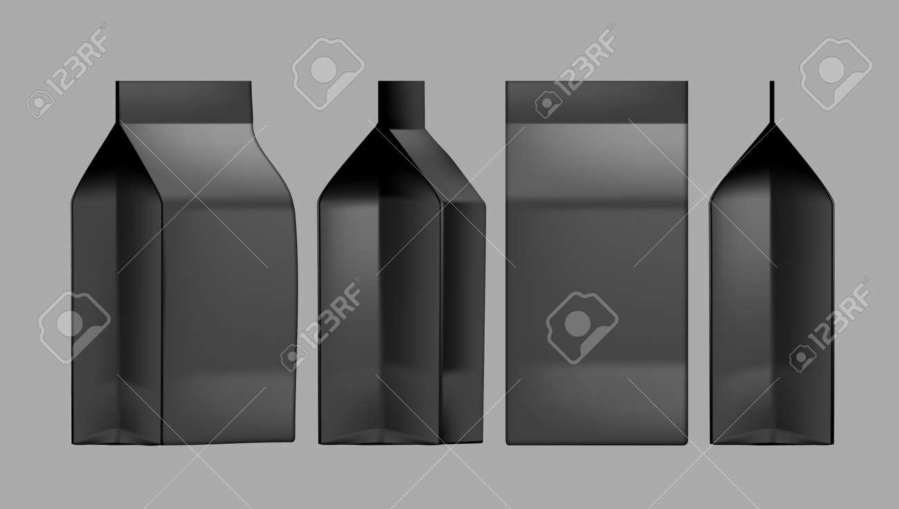 Set Of Blank Juice Or Milk Package Boxes - 169413651