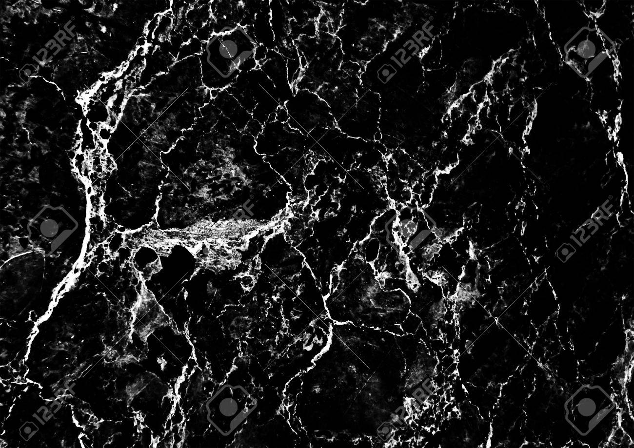 Black Marble Pattern With White Veins Useful As Background Or