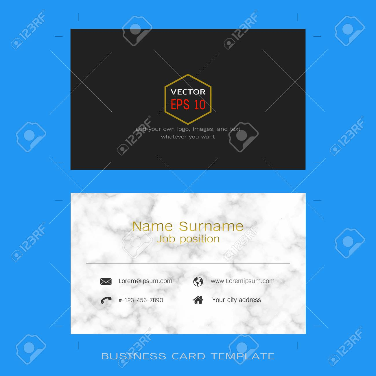 Modern designer business card layout templates marble texture modern designer business card layout templates marble texture background easy to use by print fbccfo Images