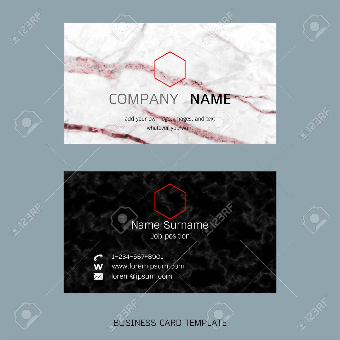 Modern designer business card layout templates marble texture modern designer business card layout templates marble texture background easy to use by print wajeb Gallery