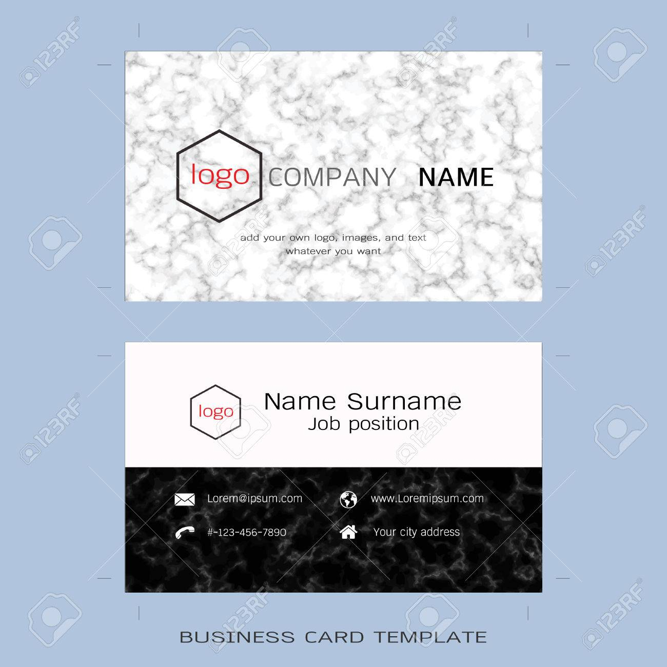 Modern designer business card layout templates marble texture modern designer business card layout templates marble texture background easy to use by print alramifo Images