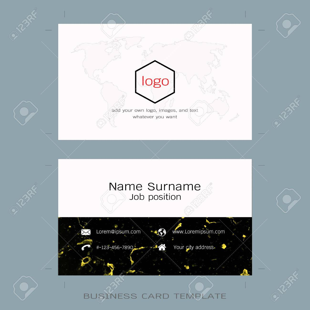 Modern Designer Business Card Layout Templates Marble Texture - Logo layout templates