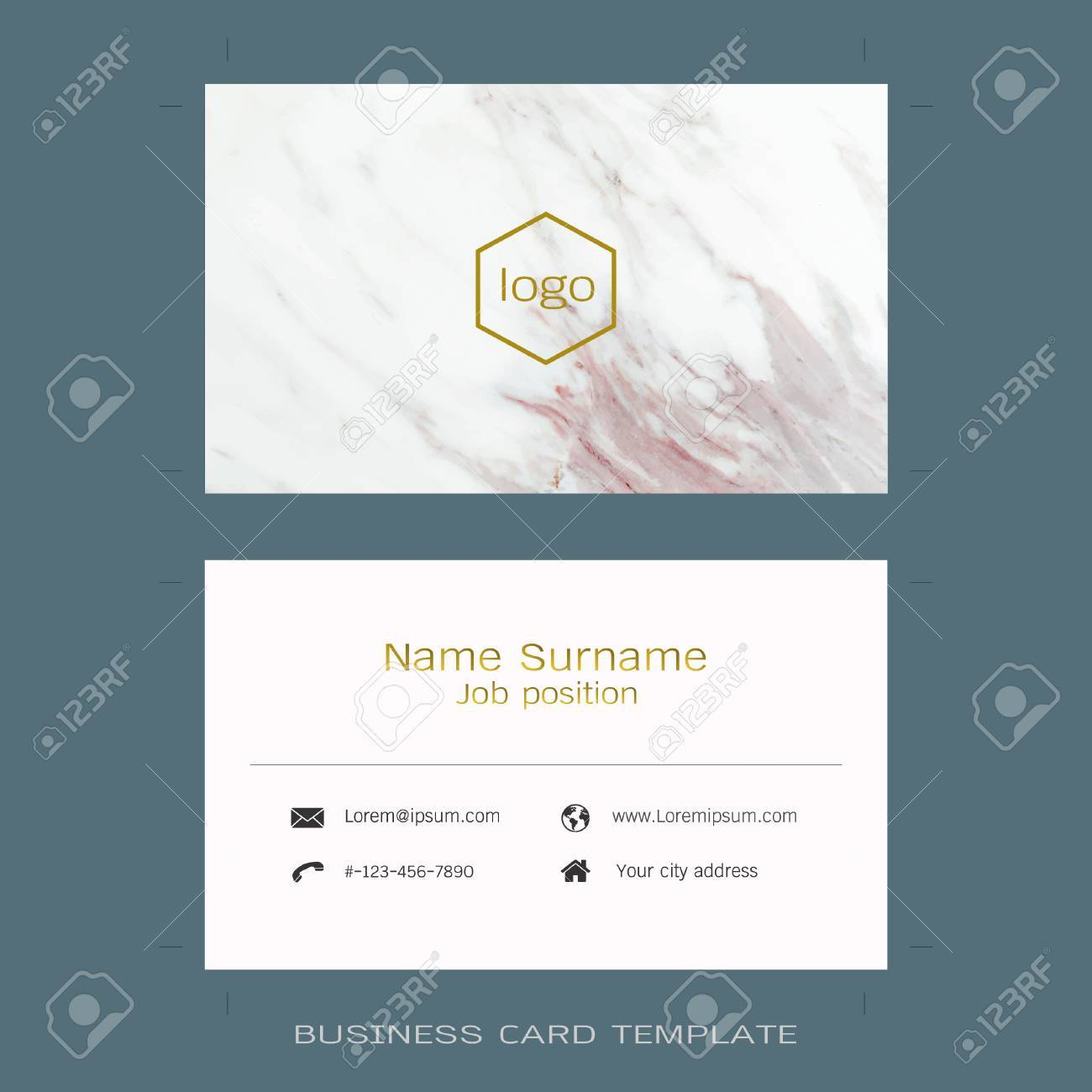 Modern designer business card layout templates marble texture imagens modern designer business card layout templates marble texture background easy to use by print a special offer or add your own logo images reheart Images