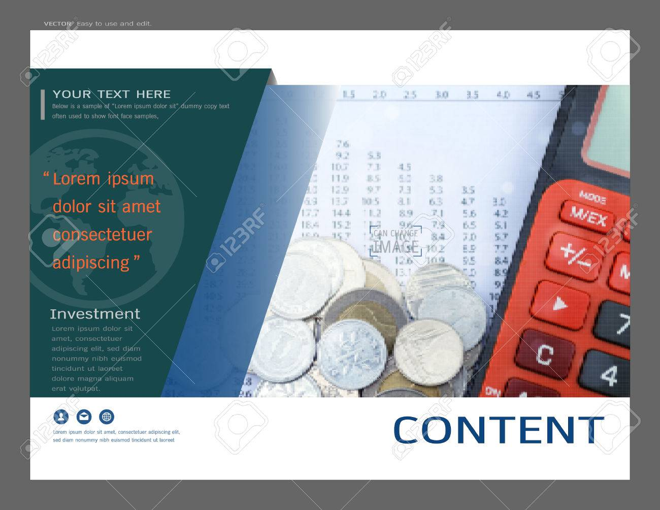 Presentation Layout Design For Investment Cover Page Template