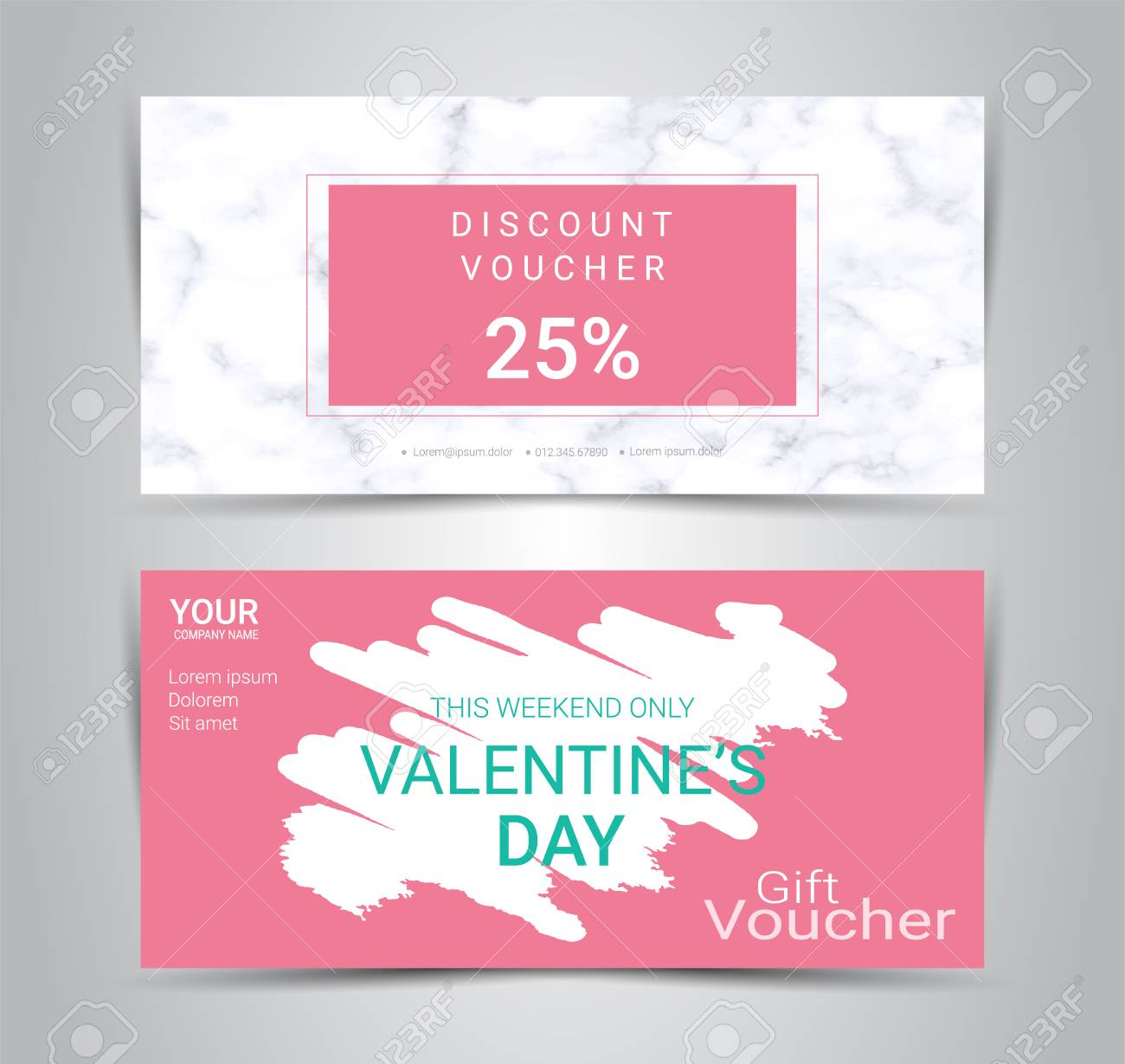Valentine S Day Gift Certificate And Voucher Promotion Template