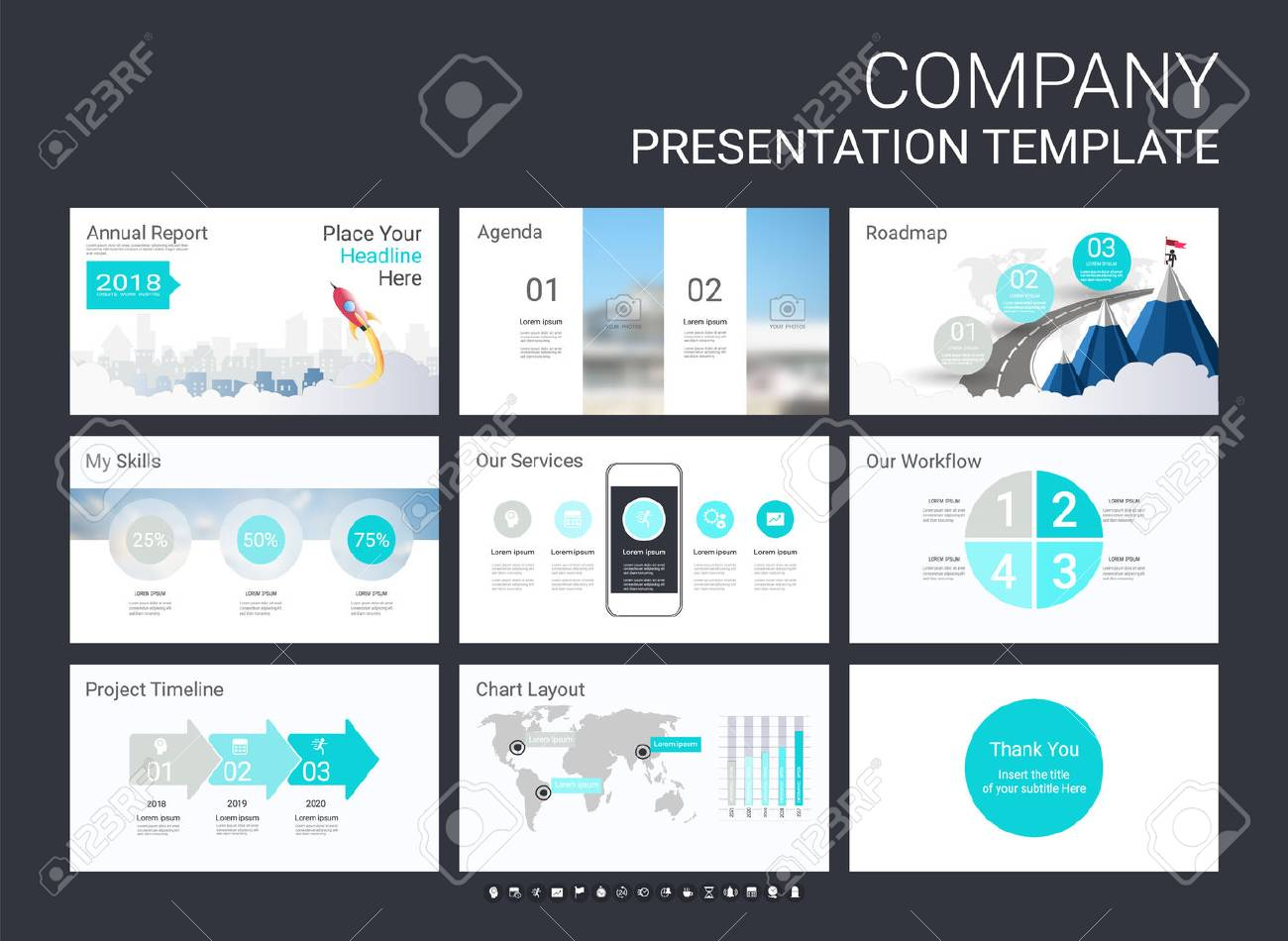 presentation template with infographic elements designs cover