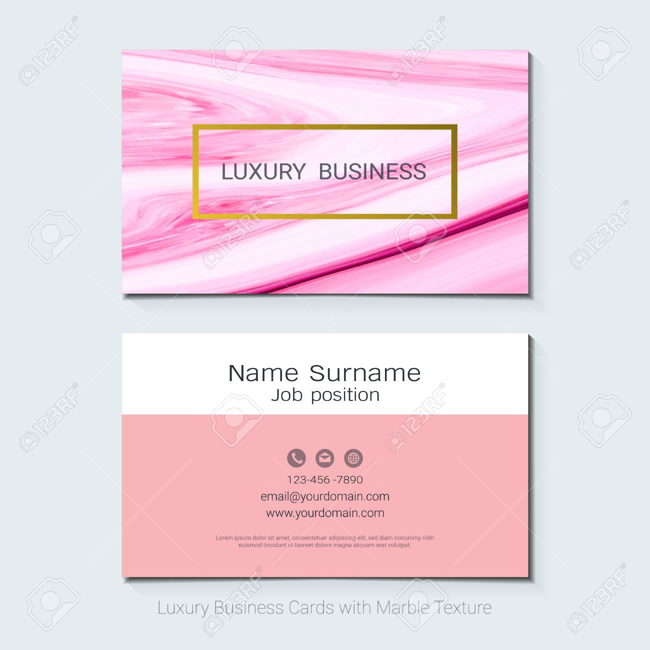 Luxury business cards vector template simple style also modern luxury business cards vector template simple style also modern and elegant with marbling texture imitation reheart Images