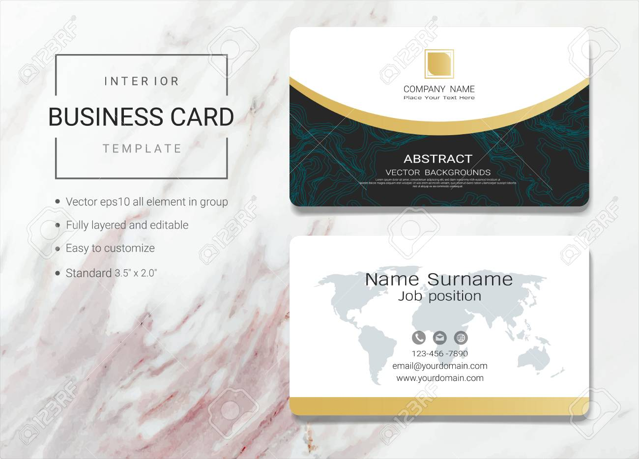 Interior business card or name card template simple style also interior business card or name card template simple style also modern and elegant with marbling wajeb Choice Image