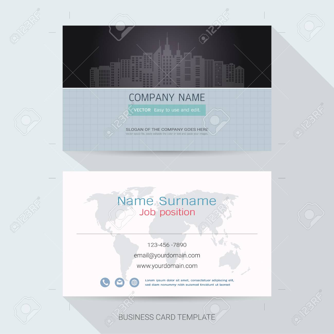 Name card or business card design templatethe style is simple name card or business card design templatethe style is simple also modern and reheart Image collections