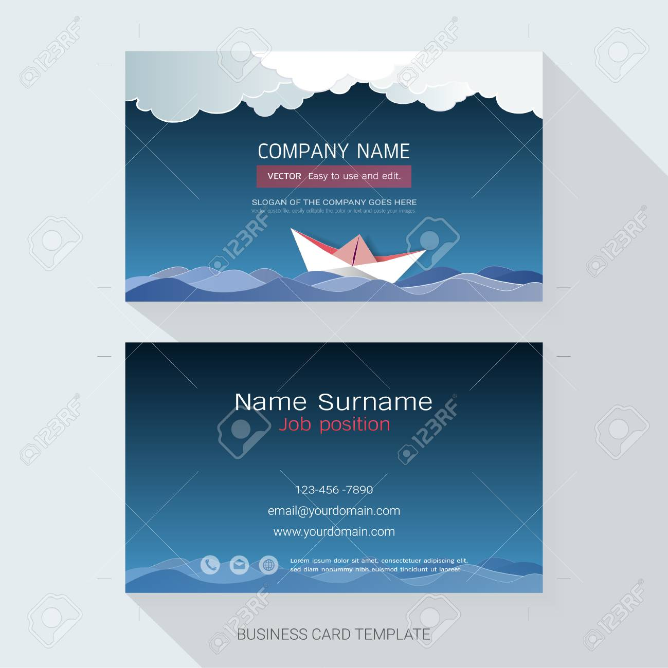 name card or business card design templatethe style is simple also modern and