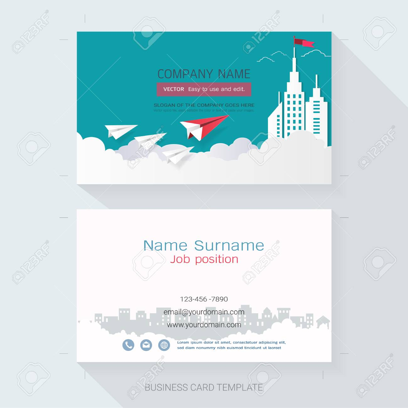 Name card or business card design templatethe style is simple name card or business card design templatethe style is simple also modern and reheart Choice Image