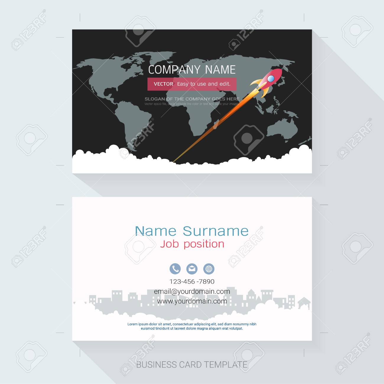 Name card or business card design templatethe style is simple name card or business card design templatethe style is simple also modern and fbccfo Choice Image