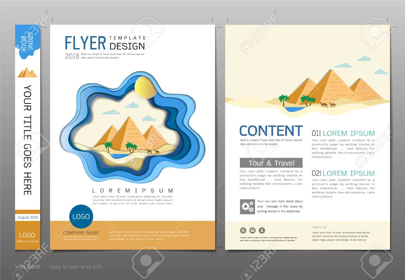 covers book design template vector travel and tourism concept