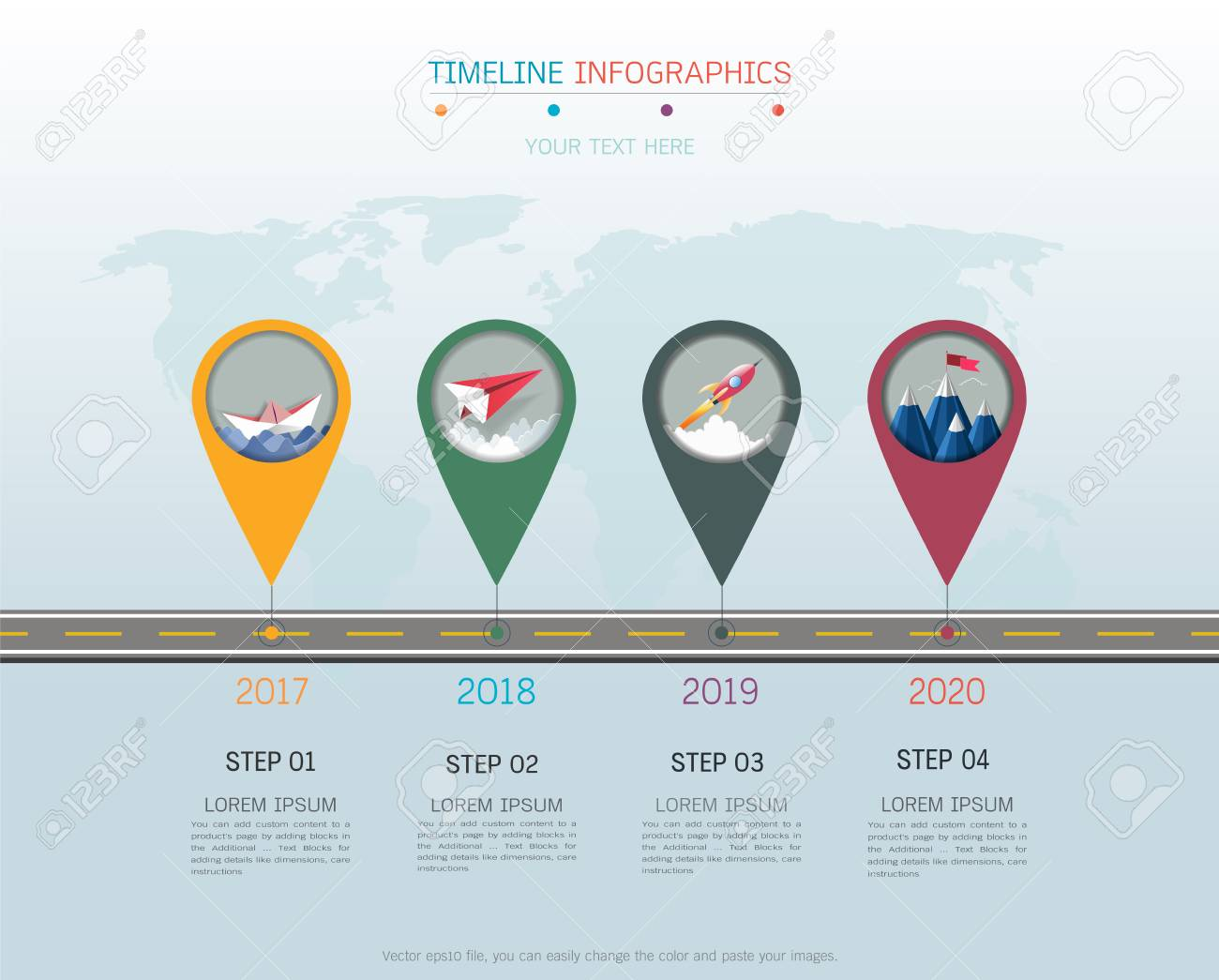 milestone timeline infographic design template royalty free cliparts
