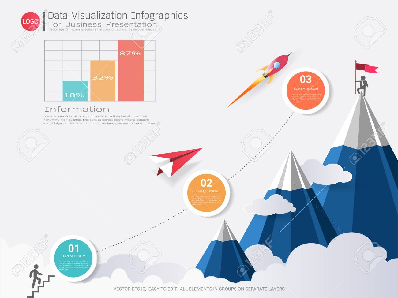 Data Visualization infographic design, Road map or strategic.. on company mission, company leadership, company registration, company goals, strategy map, company gardens map, company resources, company management, company department map, company art,