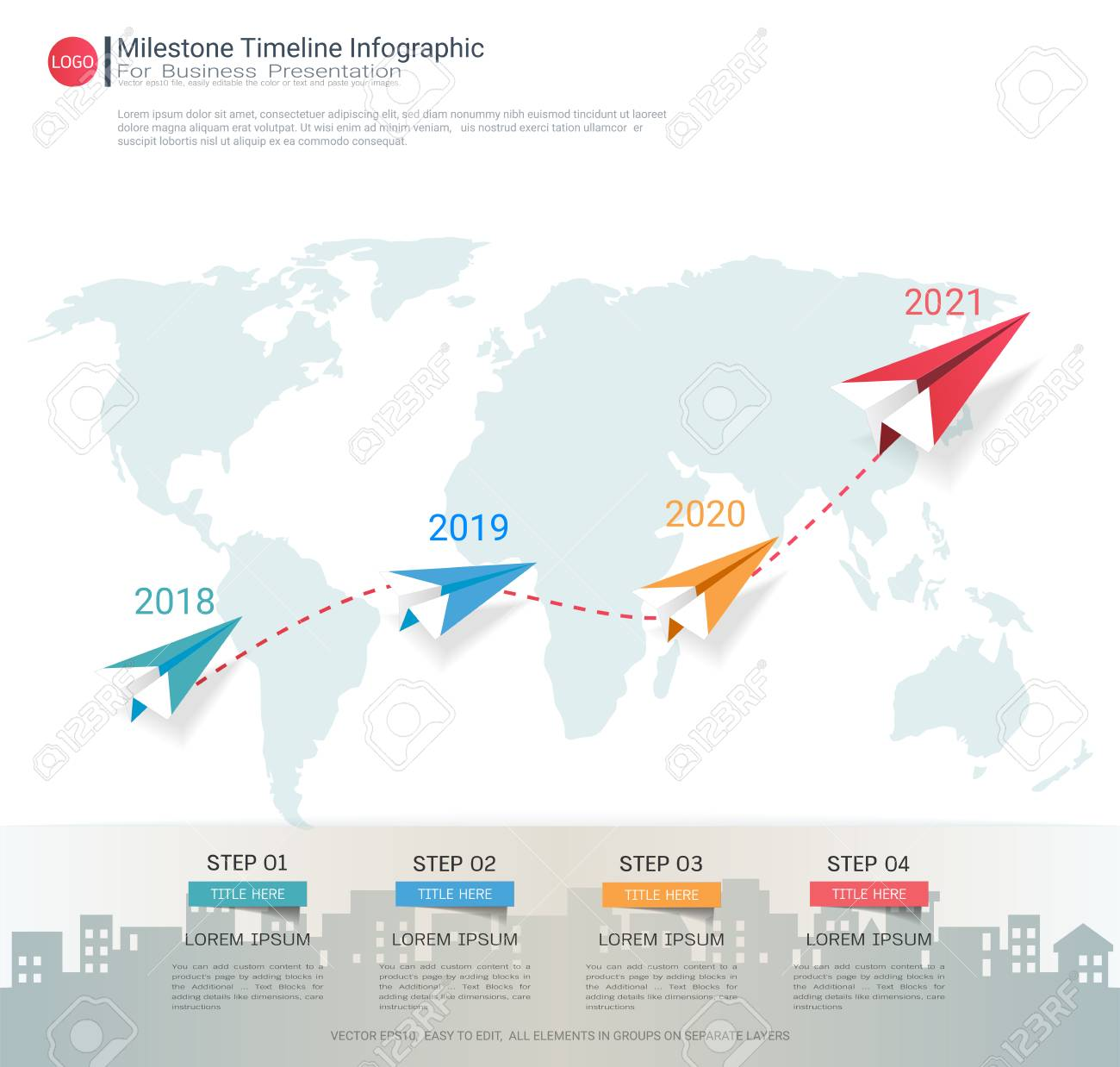 Milestone Timeline Infographic Design, Road Map Or Strategic ... on