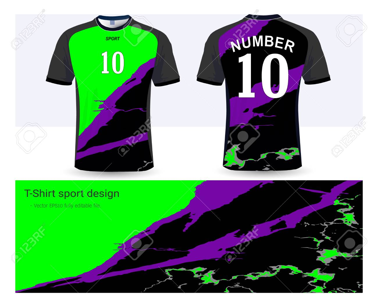 check out eb1b9 14e0f Soccer jersey and t-shirt sports design template, front and back..