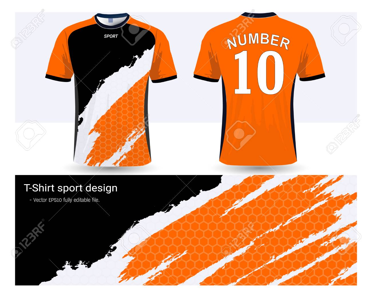 2a43a3f2eb0 Soccer jersey and t-shirt sports design template, front and back for  football club
