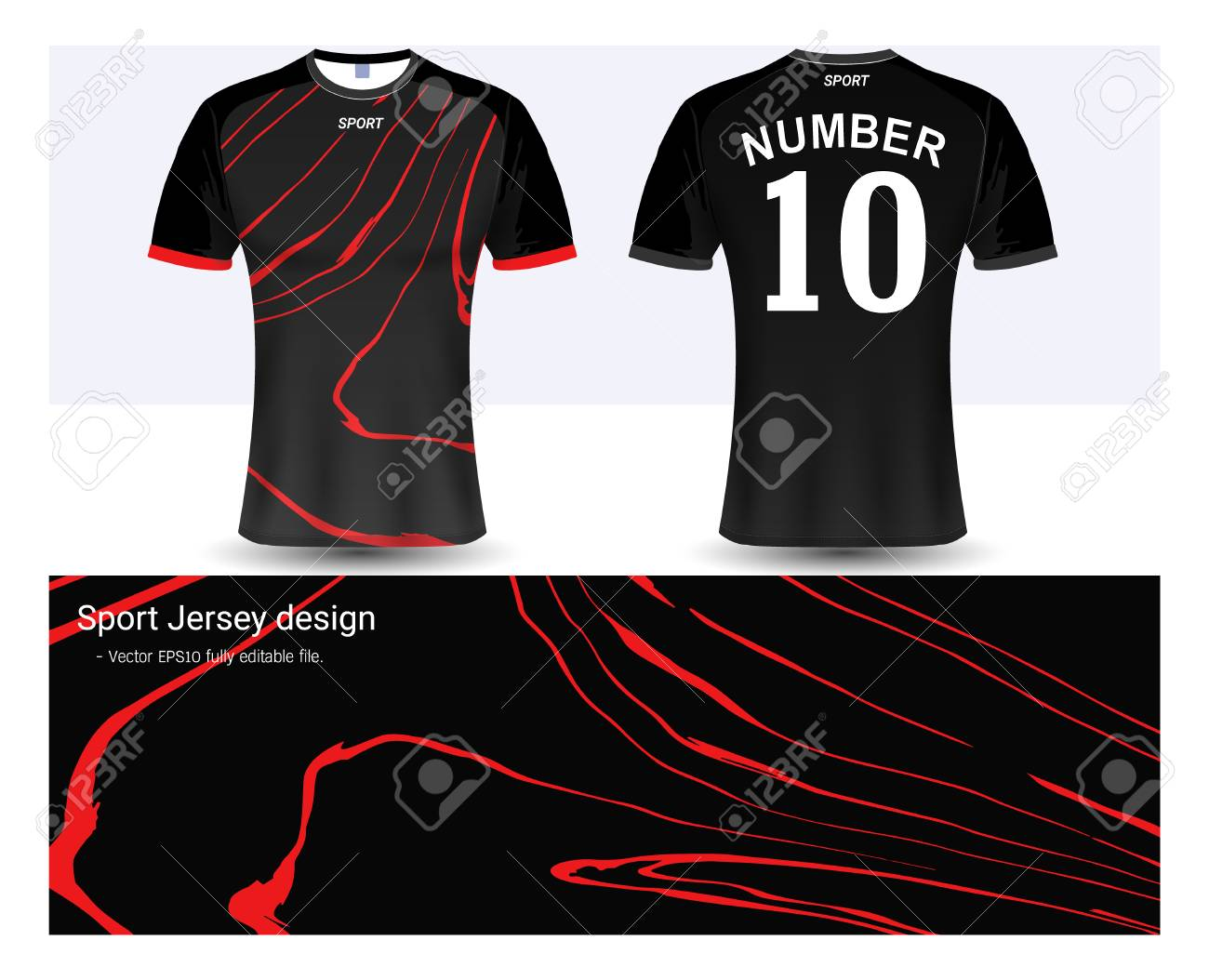 Soccer Jersey And T Shirt Sport Mock Up Template Graphic Design
