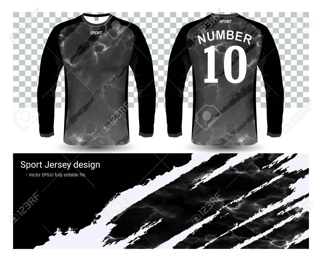 best service 2bb25 61181 Long sleeve soccer jerseys shirts template