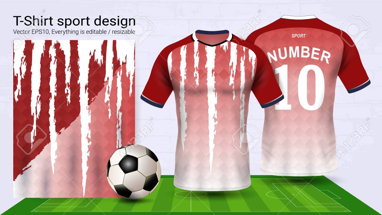 Soccer Jersey And Tshirt Sport Mockup Template Royalty Free - T shirt mockup template
