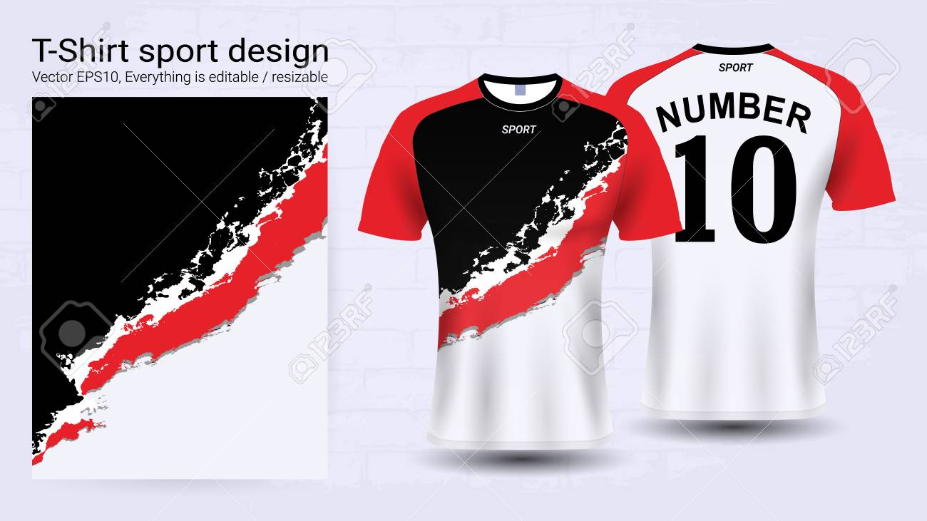 soccer jersey and t shirt sport mockup template royalty free