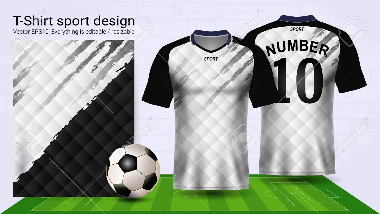 Soccer Jersey And T Shirt Sport Mockup Template Graphic Design