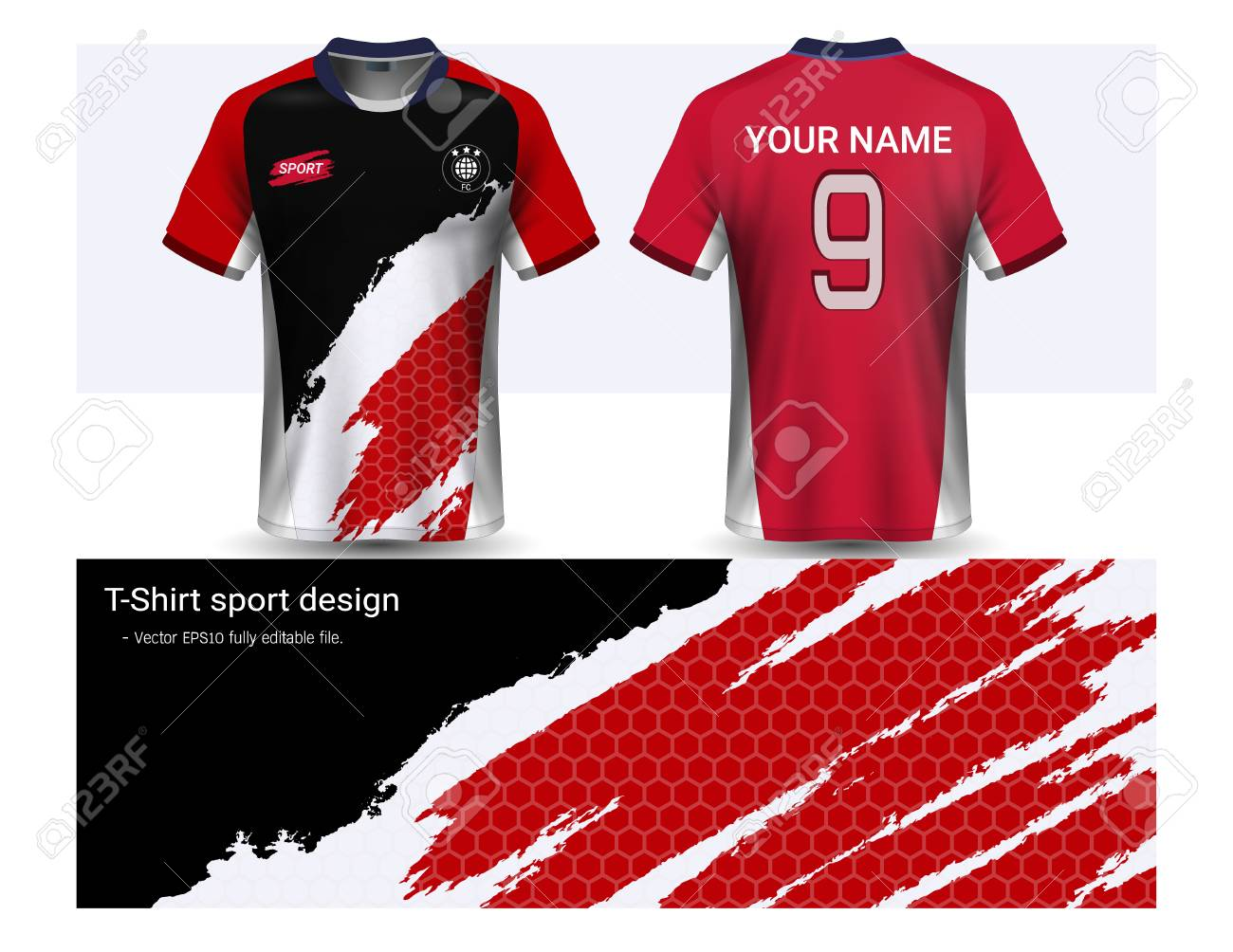 0dbf5811c Soccer Jersey And T-shirt Sport Mockup Template