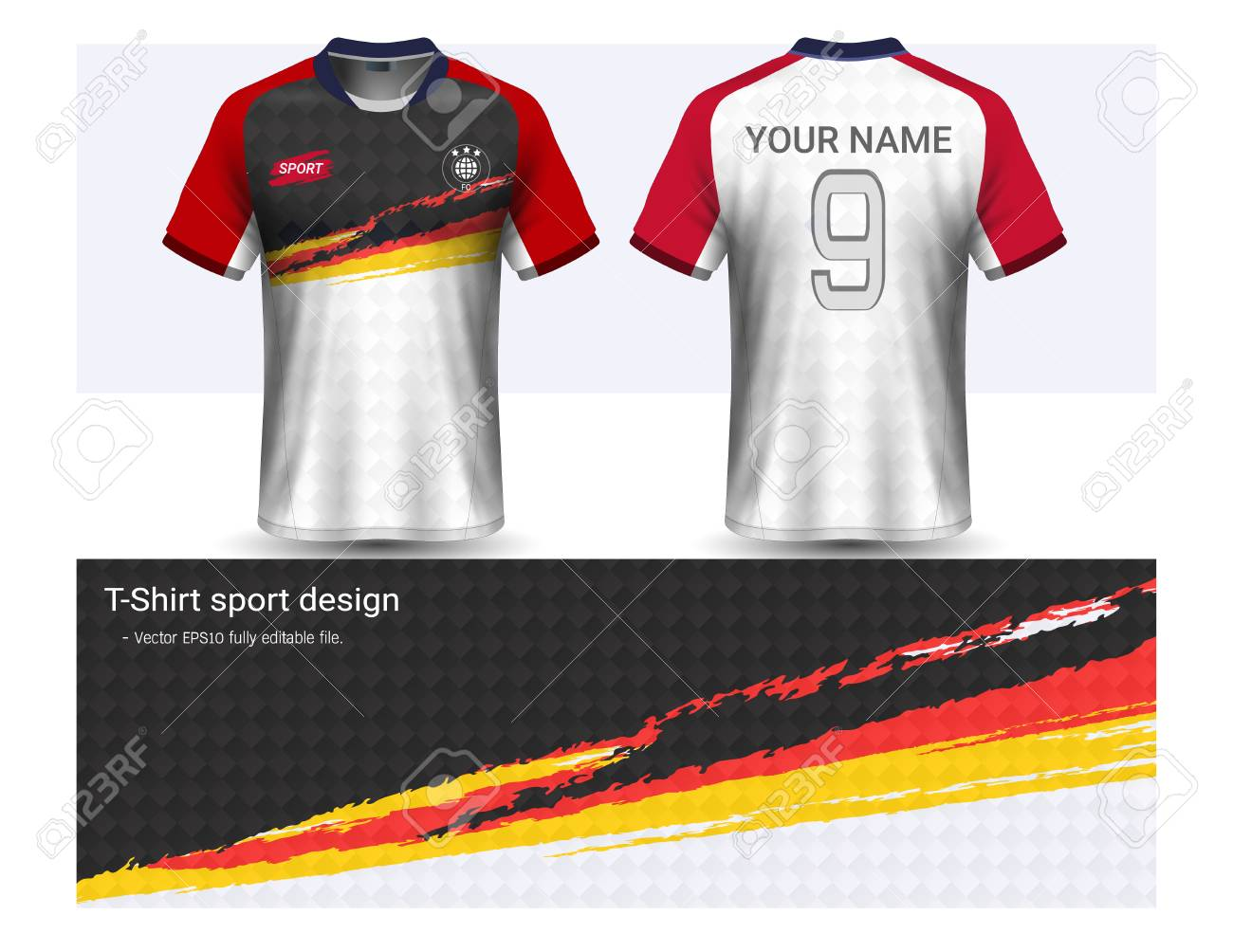 aef529011 Soccer Jersey And T-shirt Sport Mockup Template
