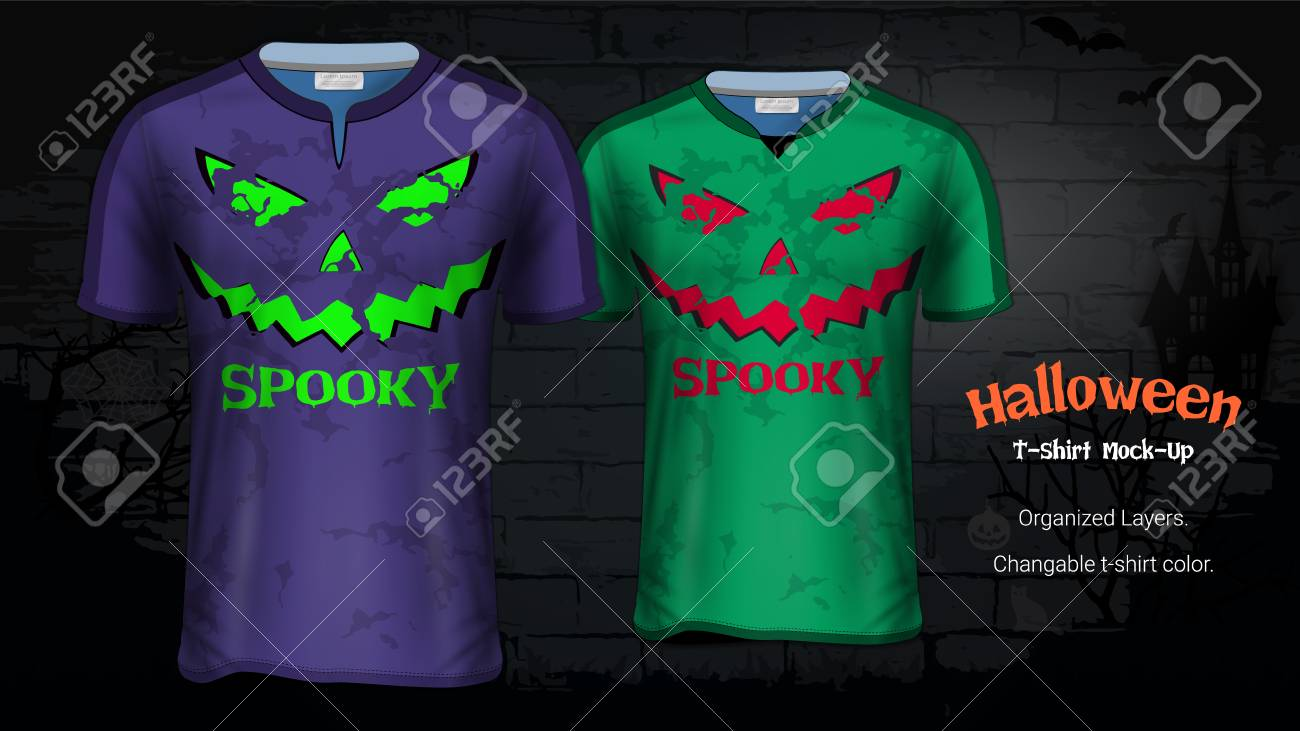 8a4fca68d64f8 Halloween Costume T-Shirts Mockup Templates