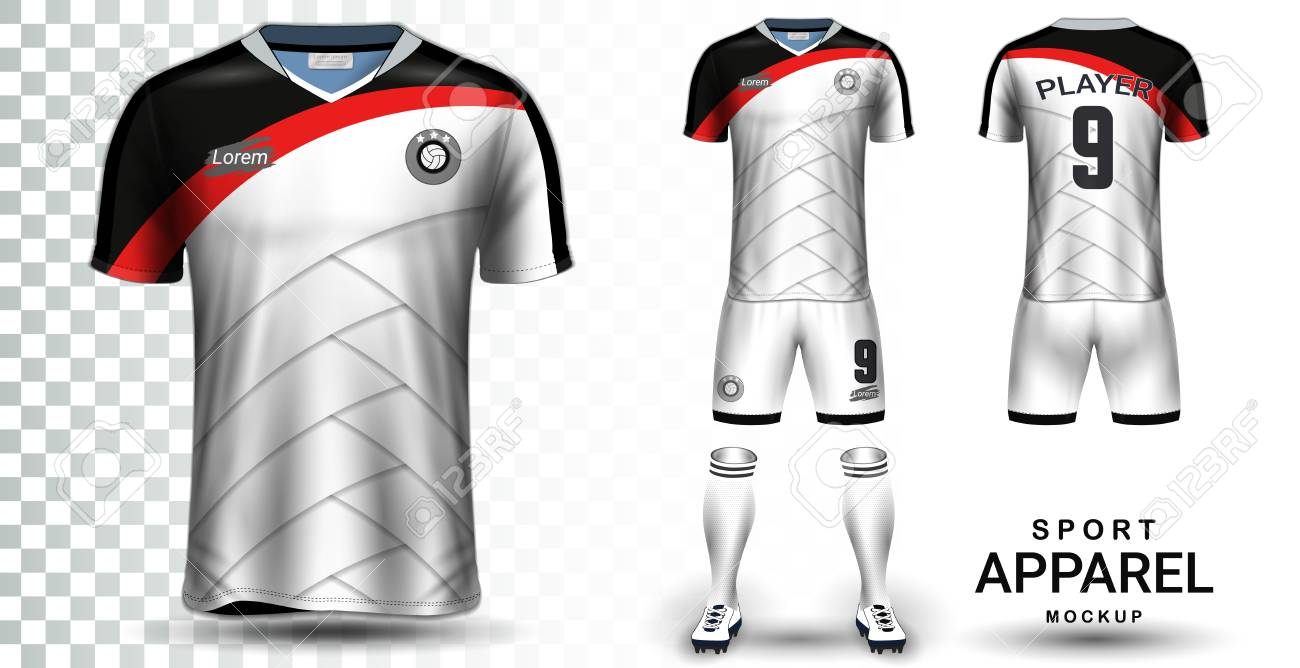 Soccer Jersey and Football Kit Presentation Mockup Template,